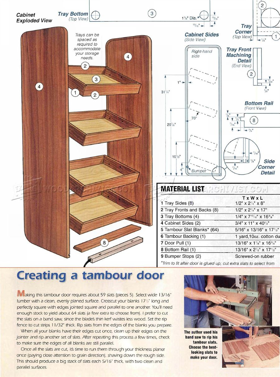 Cordless Tool Charging Cabinet Plans