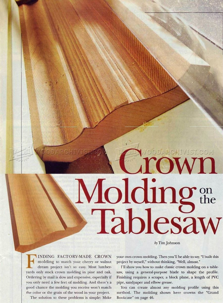 Crown Molding on the Table Saw