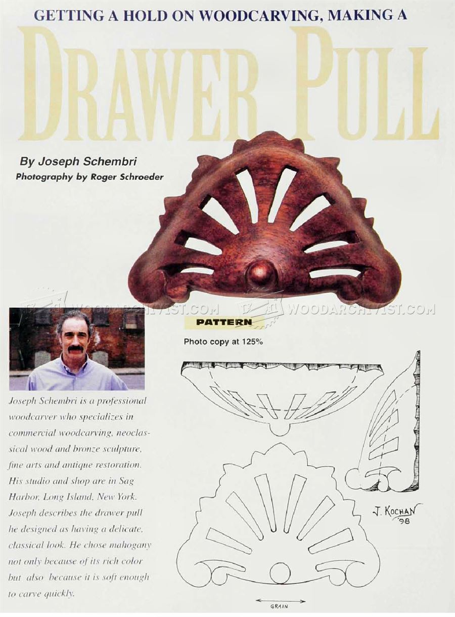 Drawer Pull Carving - Wood Carving Patterns