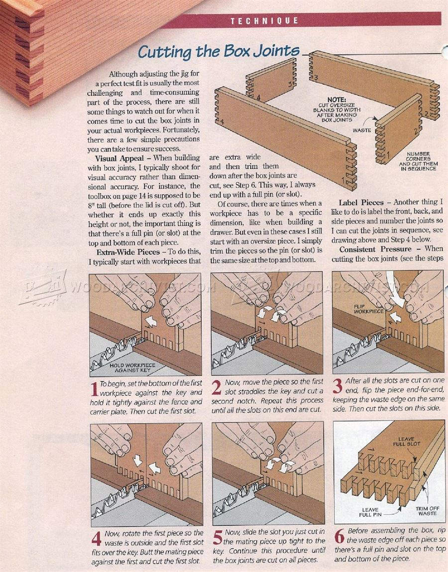 Box Joint Jig Plans Woodarchivist