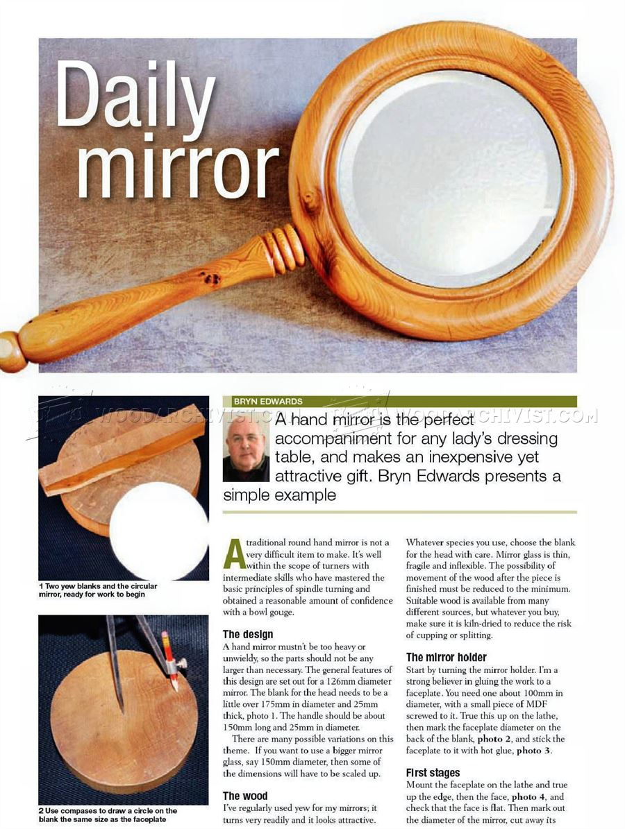 Daily Mirror - Woodturning Projects