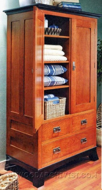rustic armoire plans woodarchivist. Black Bedroom Furniture Sets. Home Design Ideas