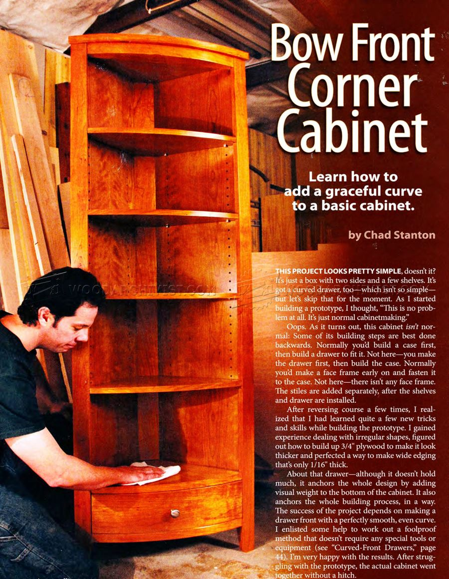 Awesome Bow Front Corner Cabinet Plans