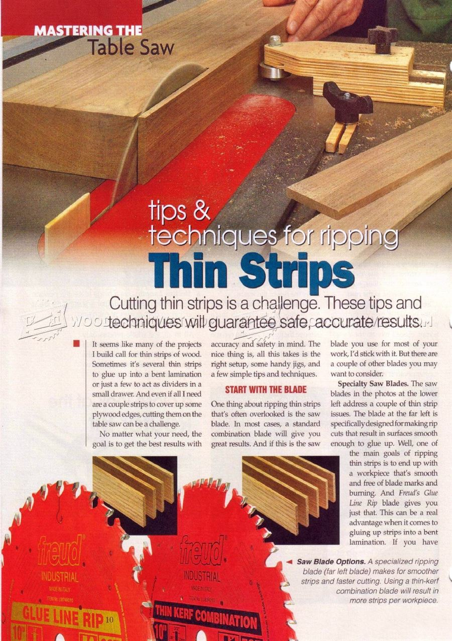 jig for cutting thin strips on table saw