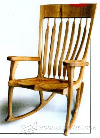 Arts Amp Crafts Rocking Chair Plan Woodarchivist