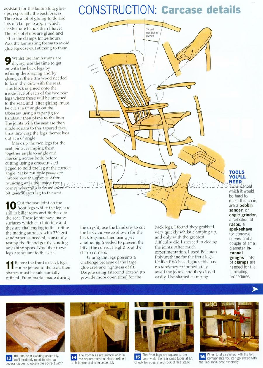 Classic rocking chair plans woodarchivist for Rocking chair design plans