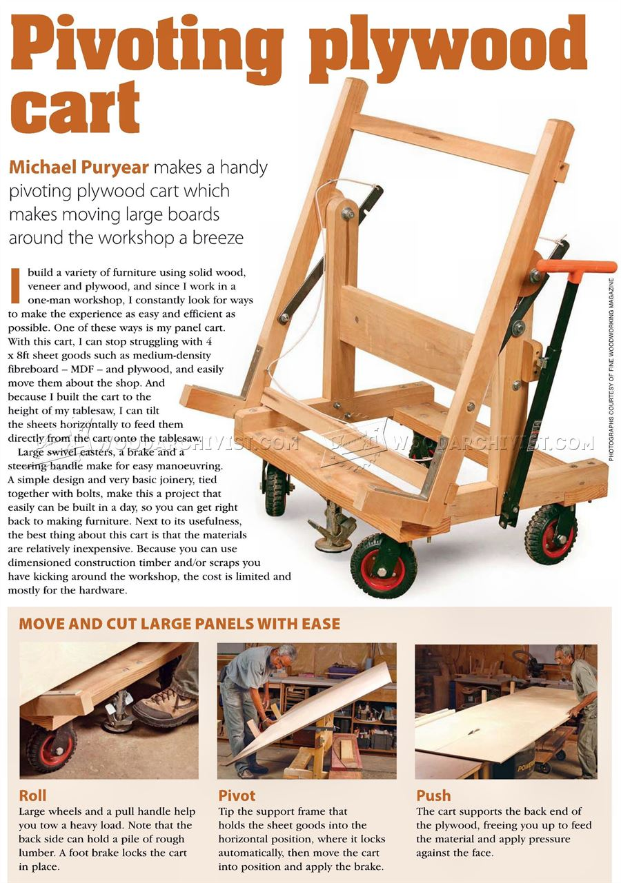 Pivoting Plywood Cart Plans