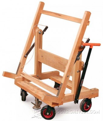480-Pivoting Plywood Cart Plans