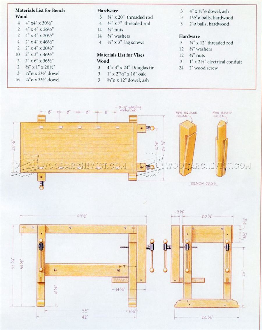 Sturdy Workbench Plans