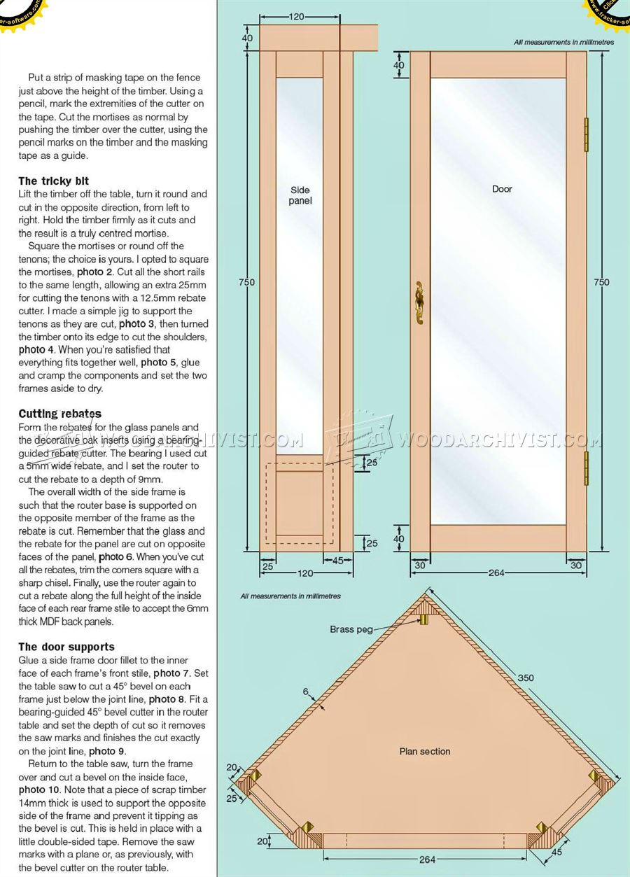 Corner cabinet plans woodarchivist for Cabinet planner free