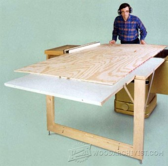 490-Table Saw Outfeed Table Plans