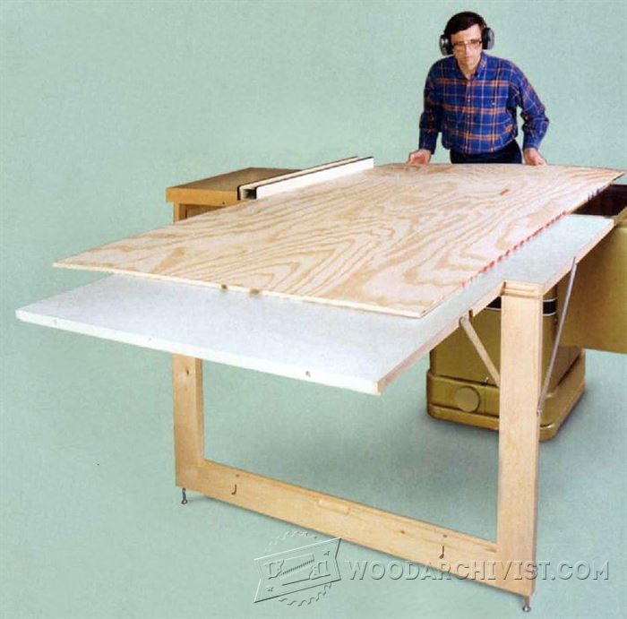 Sensational Table Saw Outfeed Table Plans Woodarchivist Home Interior And Landscaping Oversignezvosmurscom