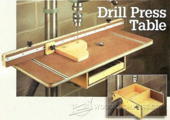 491-Drill Press Table Plans