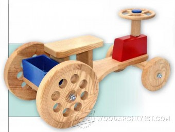 494-Wooden Ride On Tractor Plans