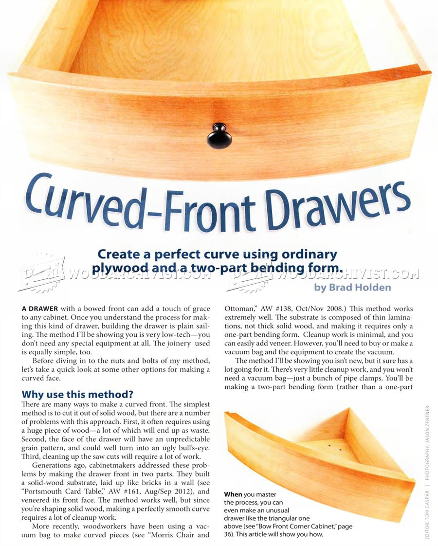 Making Curved Front Drawers