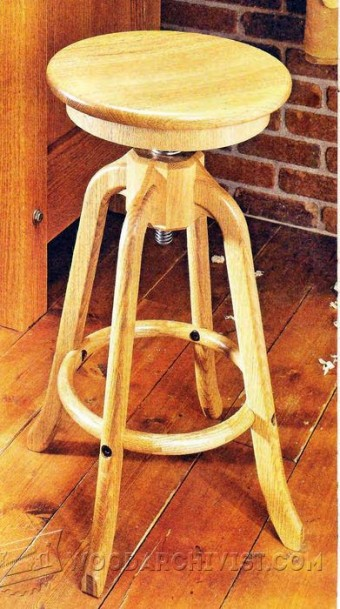 Adjustable Stool Plans Woodarchivist