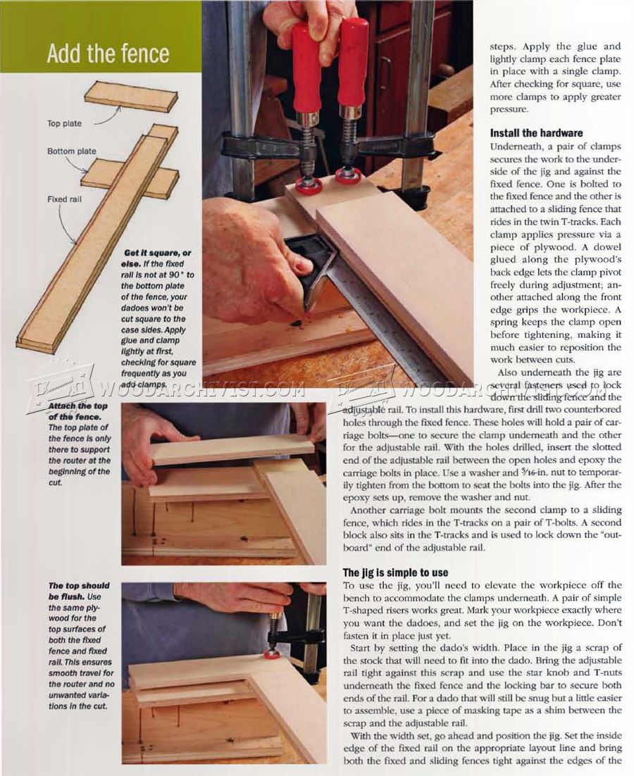 Router Dado Jig Plans