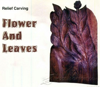 508-Relief Carving Flower and Leaves
