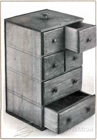 509-Shaker Sewing Box Plans
