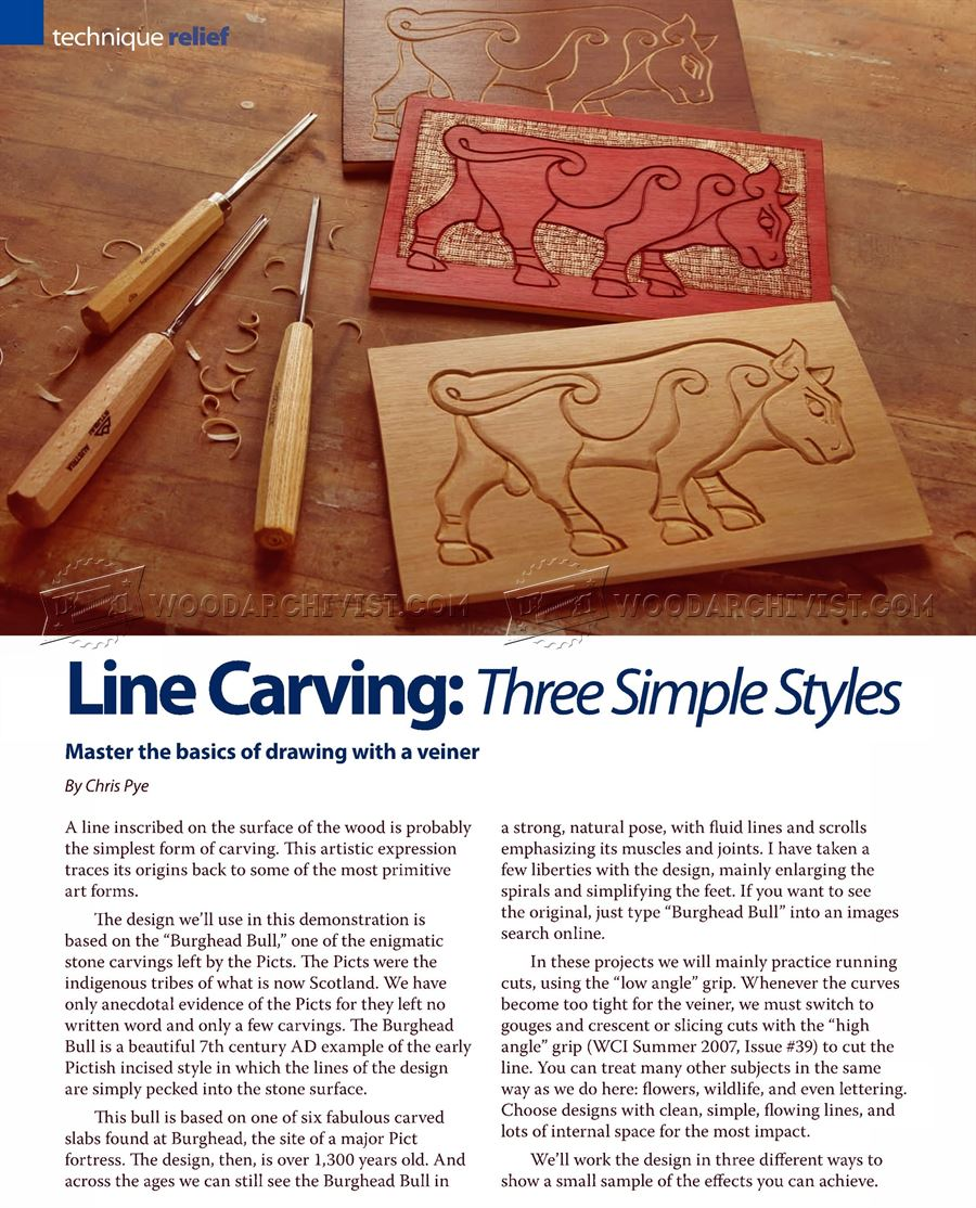 Line Carving - Three Simple Styles