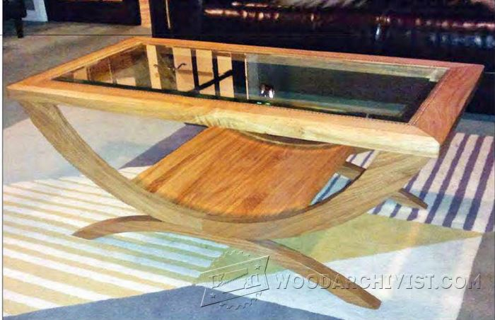 Glass Topped Coffee Table Plans Woodarchivist