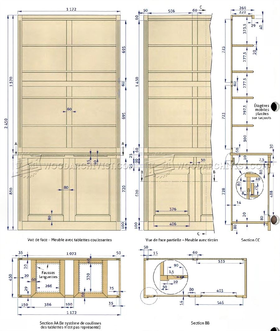 Built-In Bookcase Plans • WoodArchivist