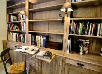 530-Built-In Bookcase Plans