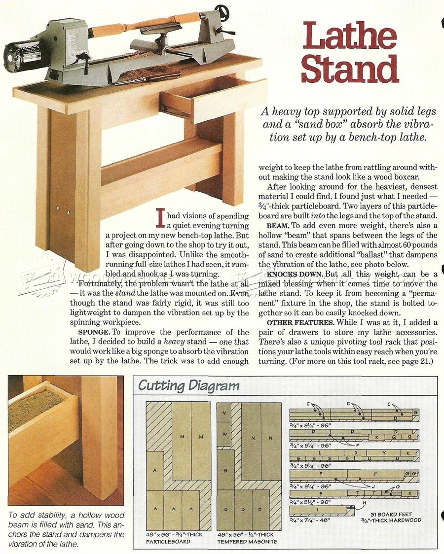 Lathe Stand Plans • WoodArchivist