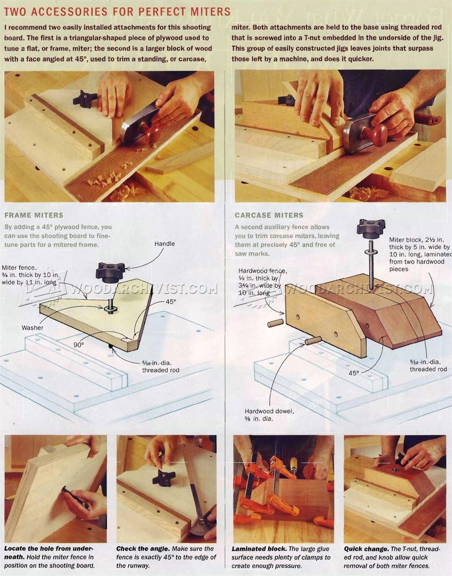 4 Bench Jigs for Handplanes