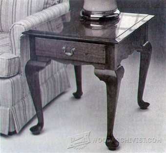536-Queen Anne Side Table Plans