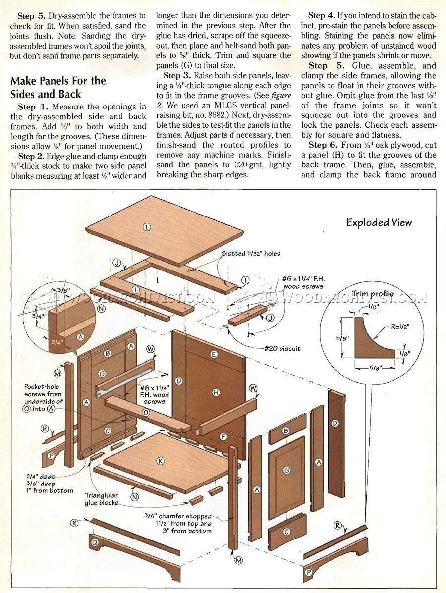 Traditional Oak Night Stand Plans