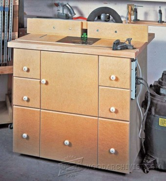 544-Router Table Cabinet Plans