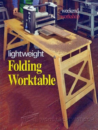 547-Folding Work Table Plans