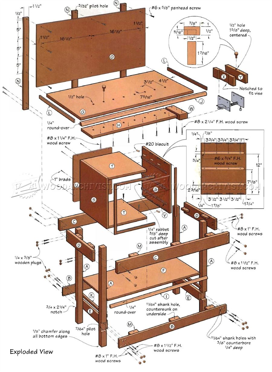 Kids Workbench Plans