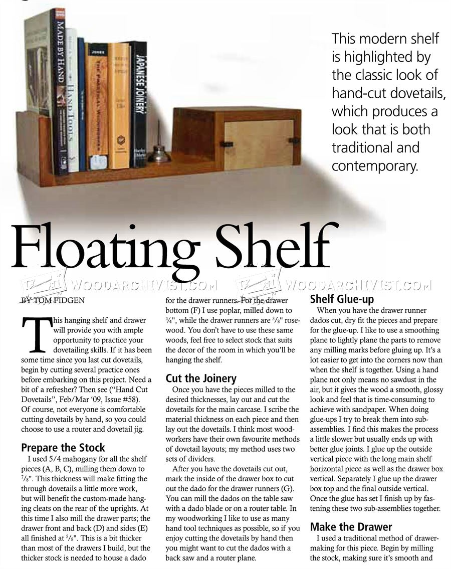 Floating Shelf Plans
