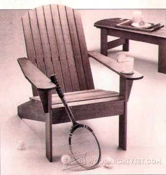 557-Adirondack Chair Plan
