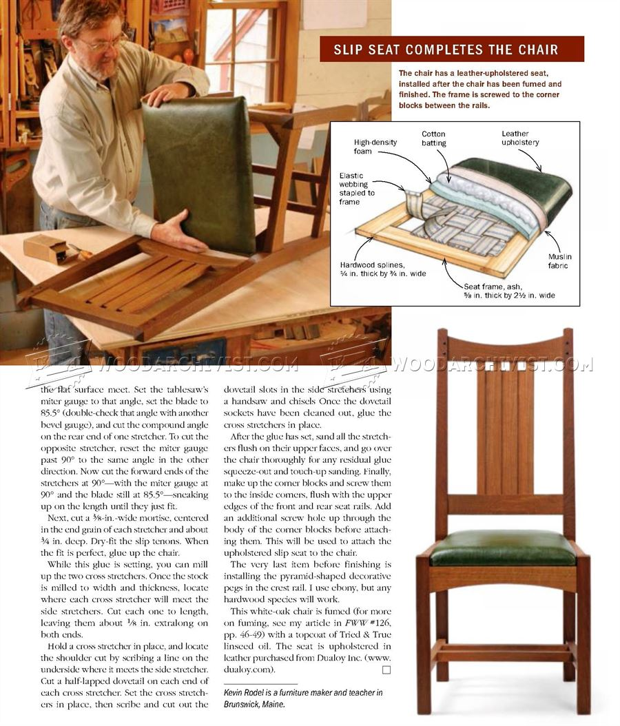 Arts and Crafts Side Chair Plans