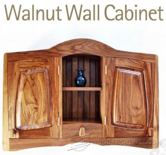 560-Walnut Wall Cabinet