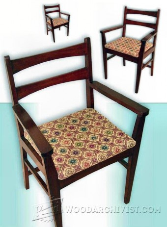 563-Mahogany Carver Chair Plans
