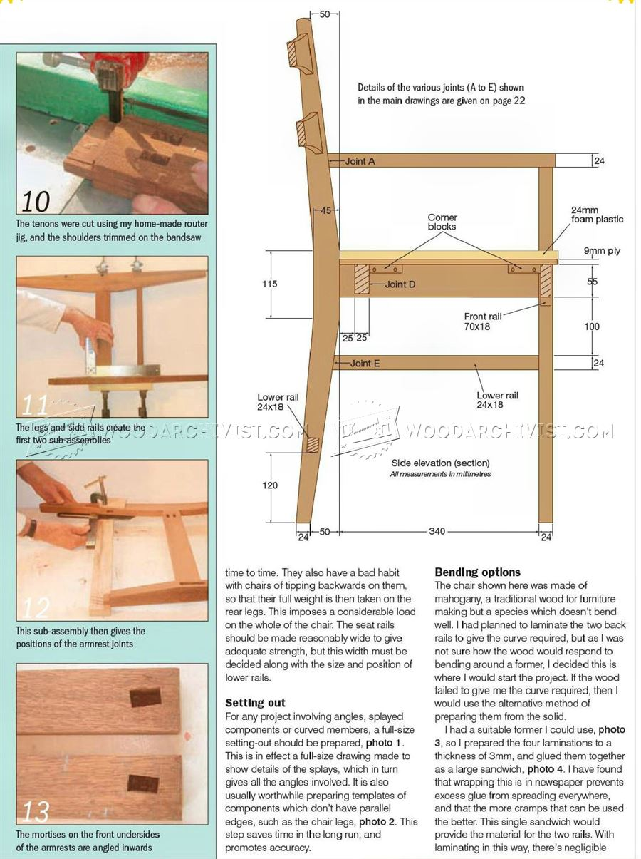 Mahogany Carver Chair Plans