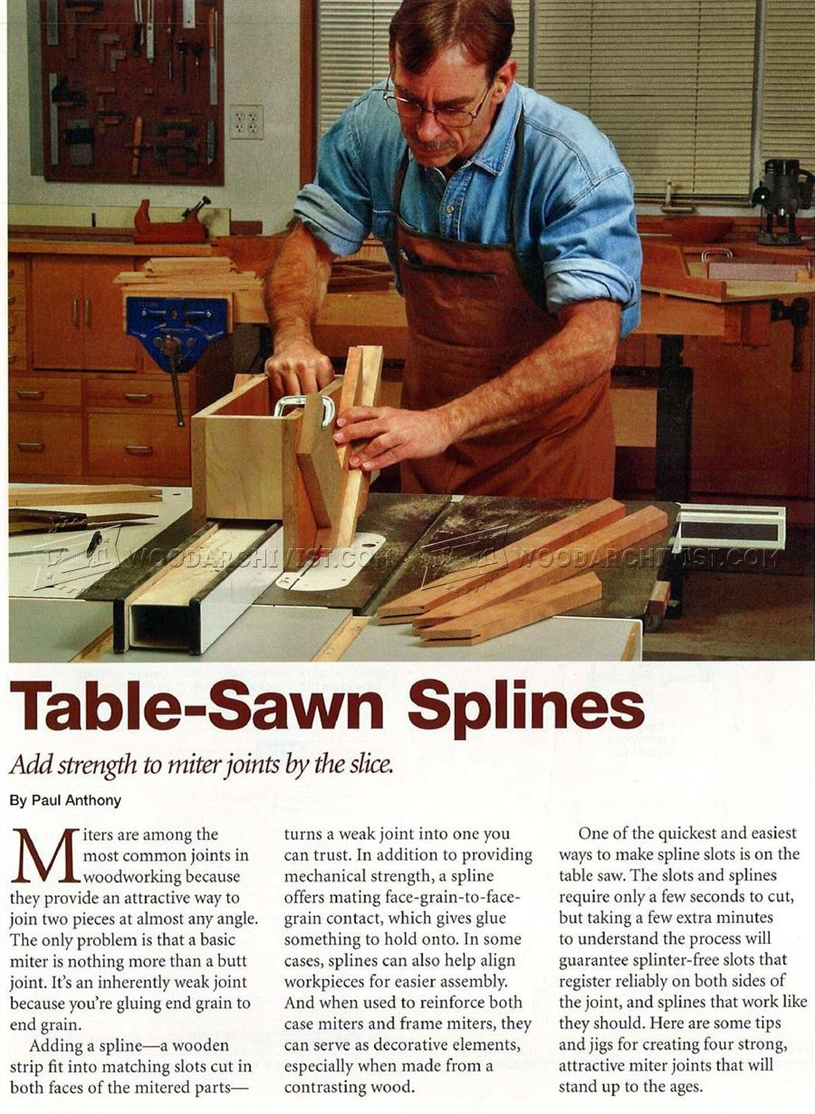Spline Joint on Table Saw