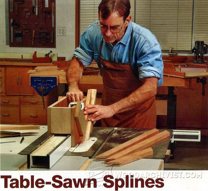 how to cut splines on a table saw
