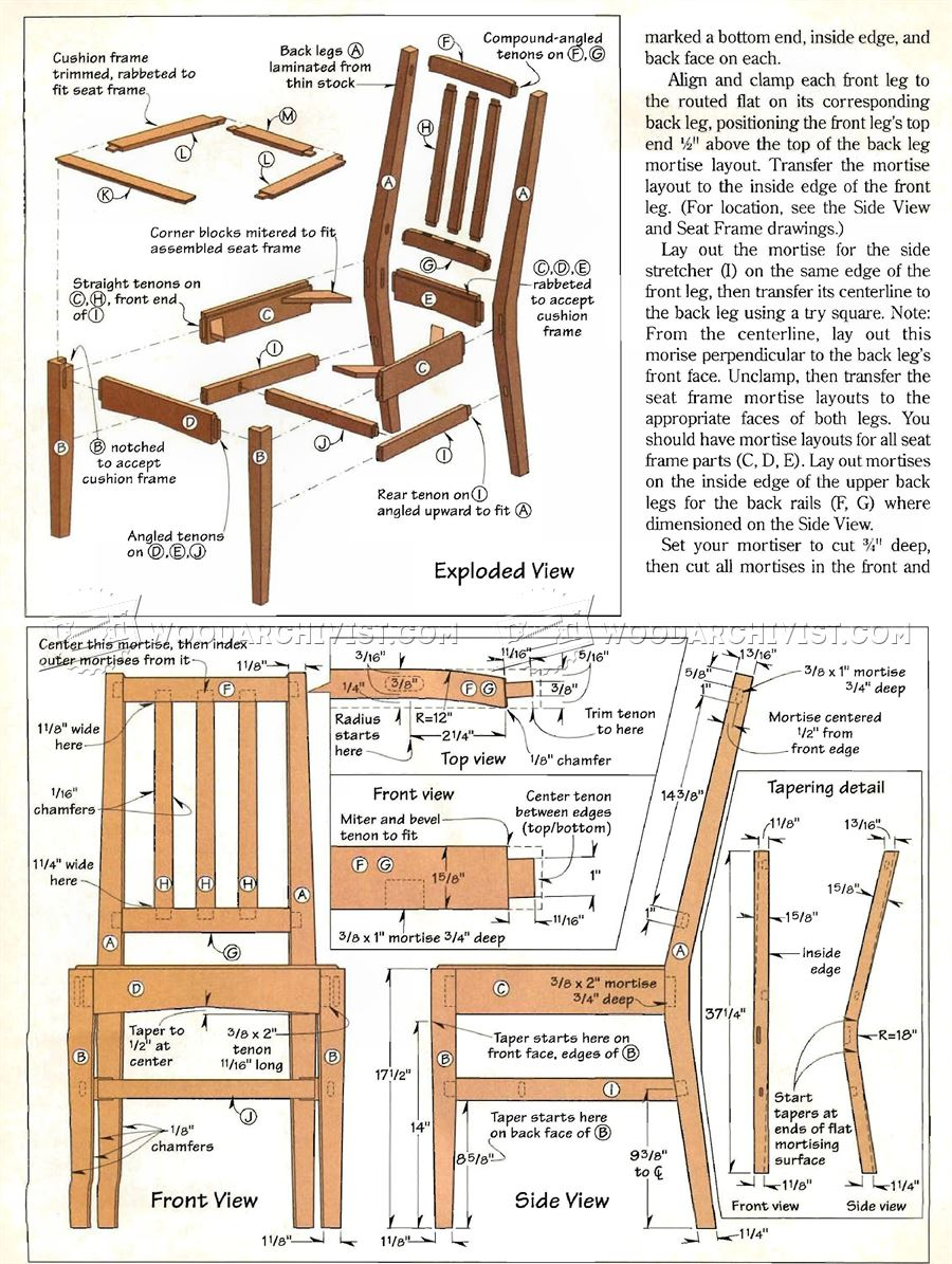 contemporary dining chair plans woodarchivist