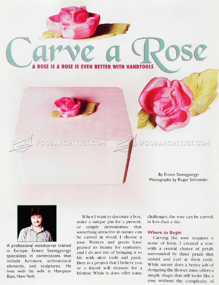 Rose Carving - Wood Carving Patterns