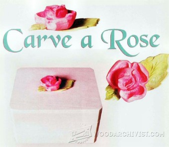 589-Rose Carving - Wood Carving Patterns