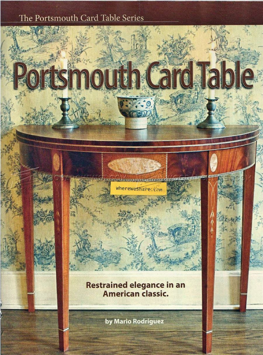 Portsmouth Card Table Plans