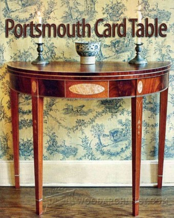 598-Portsmouth Card Table Plans