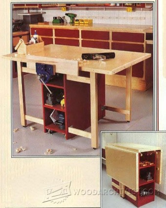600-Drop-Leaf Mobile Workbench Plans