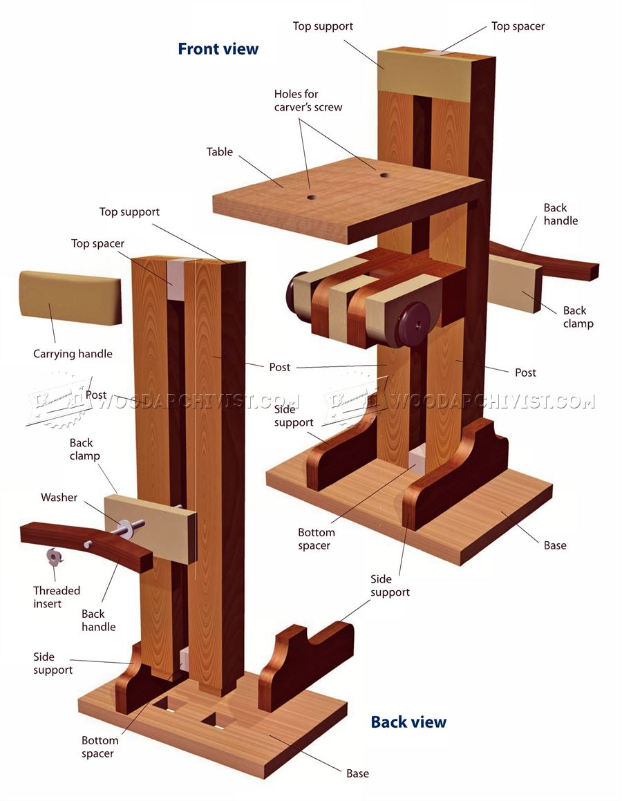 Build Your Own Carving Stand Woodarchivist