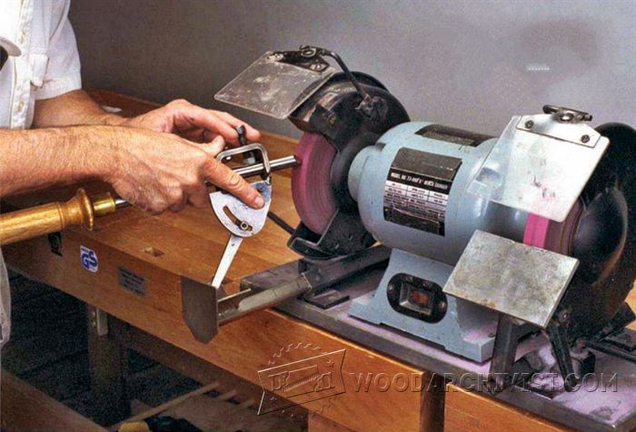 Sharpening With A Grinding Jig And Buffers Woodarchivist